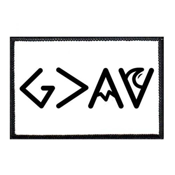 P PULLPATCH Airsoft Morale Patch 1 God is Greater Than Highs and Lows - B&W - Sharp Morale Patch   Hook and Loop Attach for Hats, Jeans, Vest, Coat   2x3 in   by Pull Patch