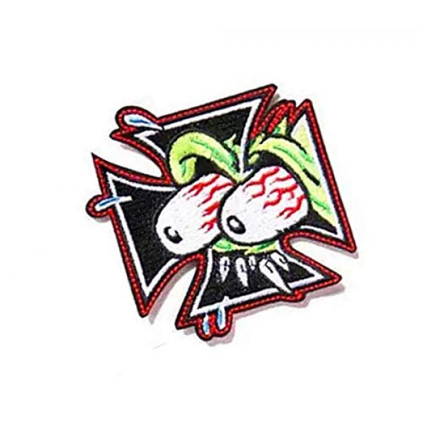 Embroidery Patch Airsoft Morale Patch 2 The Rat Fink Ed Roth Military Hook Loop Tactics Morale Embroidered Patch