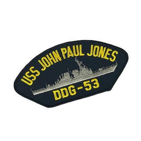Embroidery Patch Airsoft Morale Patch 2 USS John Paul Jones DDG-53 Military Hook Loop Tactics Morale Embroidered Patch