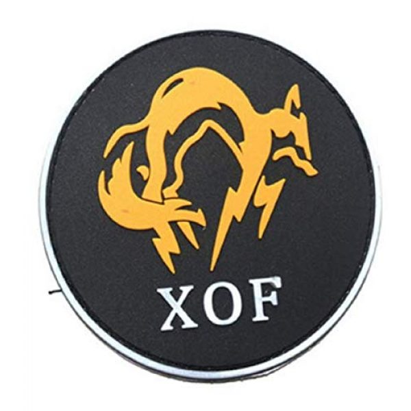 Tactical PVC Patch Airsoft Morale Patch 4 MGS Metal Gear Solid Fox Hound Logo PS4 PVC Military Tactical Morale Patch Badges Emblem Applique Hook Patches for Clothes Backpack Accessories