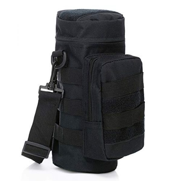 ONEVER Tactical Pouch 2 ONEVER Molle Water Bottles Pouch, Tactical Gear Kettle Waist Shoulder Bag for Military Climbing Camping Hiking Bags