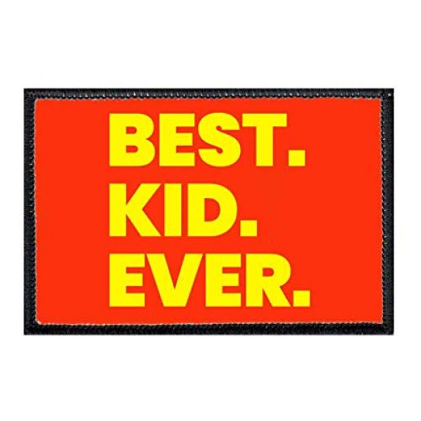 P PULLPATCH Airsoft Morale Patch 1 Best. Kid. Ever. Morale Patch | Hook and Loop Attach for Hats, Jeans, Vest, Coat | 2x3 in | by Pull Patch