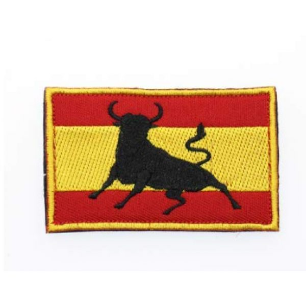 Embroidered Patch Airsoft Morale Patch 1 Spanish Bull Flag 3D Tactical Patch Military Embroidered Morale Tags Badge Embroidered Patch DIY Applique Shoulder Patch Embroidery Gift Patch
