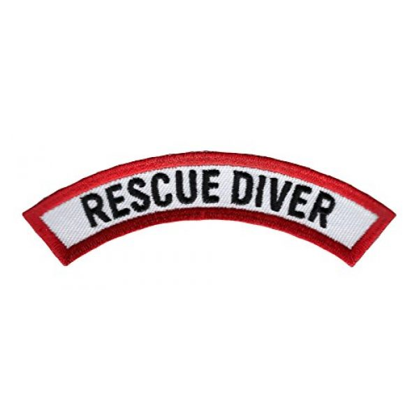Cypress Collectibles Embroidered Patches Airsoft Morale Patch 1 Rescue Diver Chevron Patch Embroidered Iron On EMT Scuba Diving Emblem Souvenir