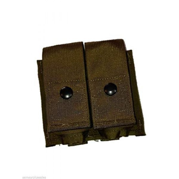 Airsoft Tactical Pouch 2 AirSoft Military Double 40MM HE High Explosive Grenade MOLLE Pouch Coyote