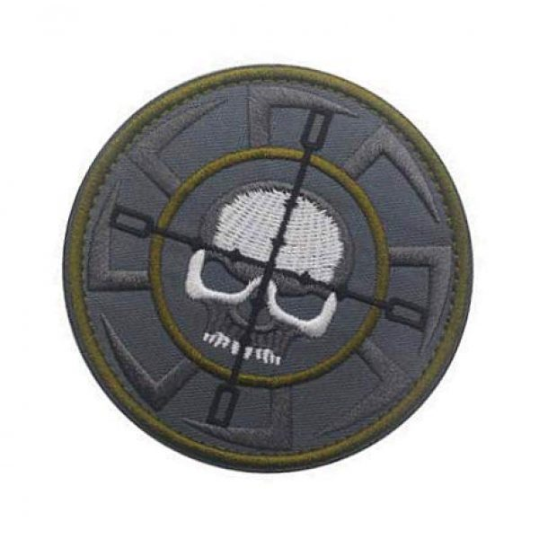 Embroidery Patch Airsoft Morale Patch 3 Russia FSB, ALFA Team Kolovrat Skull Military Hook Loop Tactics Morale Embroidered Patch