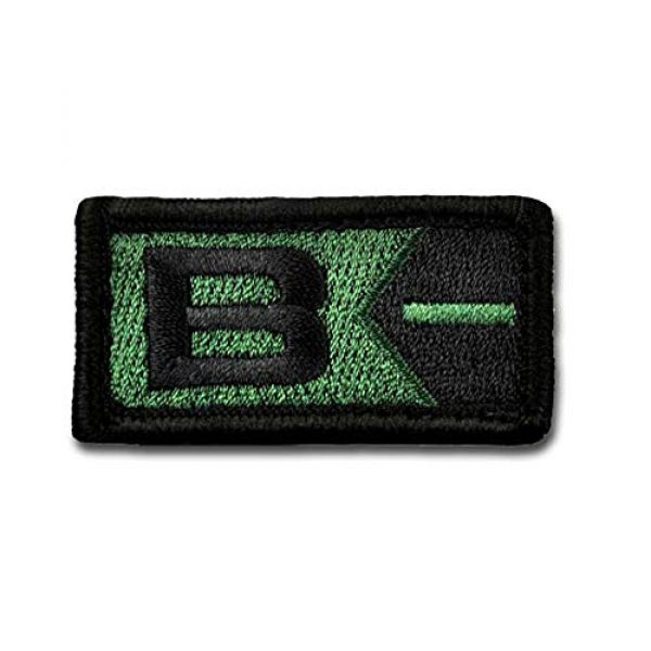 BASTION Airsoft Morale Patch 1 BASTION Morale Patches (Blood Type B Neg, ODG) | 3D Embroidered Patches with Hook & Loop Fastener Backing | Well-Made Clean Stitching | Military Patches for Tactical Bag, Hats & Vest