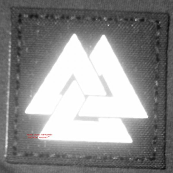 Tactical Freaky Airsoft Morale Patch 4 Multicam Infrared IR Viking Valknut Norse 2x2 IFF Tactical Morale Touch Fastener Patch