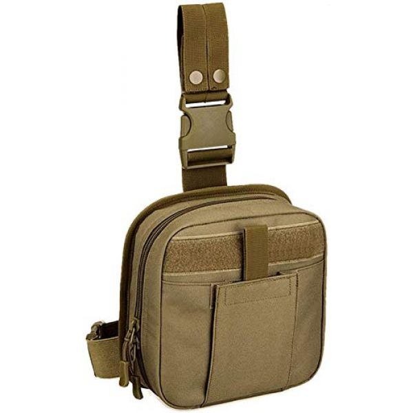 ACOMOO Tactical Pouch 1 ACOMOO Multifunctional Drop Leg Waist Bag - Tactical Thigh Brown Size No Size