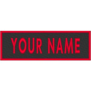 """Fast Service Designs Airsoft Morale Patch 1 Custom Text Embroidered 3"""" x 1"""" Name Tag Patch Iron-On Sew-On Logo ID for Multiple Clothing Bags Vest Jackets Work Shirts MC Tactical Morale Biker Motorcycle Emblem #7"""