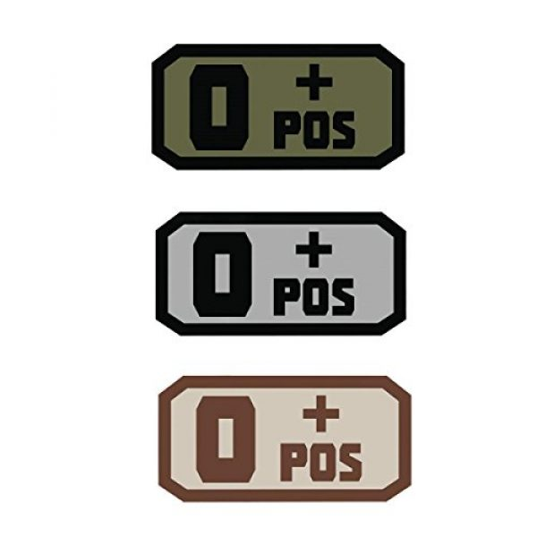 Fox Outdoor Airsoft Morale Patch 1 Fox Outdoor Products O Pos Medical & Morale Patches