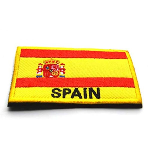 Tactical Embroidery Patch Airsoft Morale Patch 3 2pcs Spain Flag Embroidery Patch Military Tactical Morale Patch Badges Emblem Applique Hook Patches for Clothes Backpack Accessories