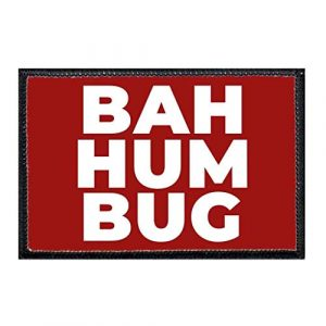 P PULLPATCH Airsoft Morale Patch 1 Bah, Humbug Red Morale Patch | Hook and Loop Attach for Hats, Jeans, Vest, Coat | 2x3 in | by Pull Patch