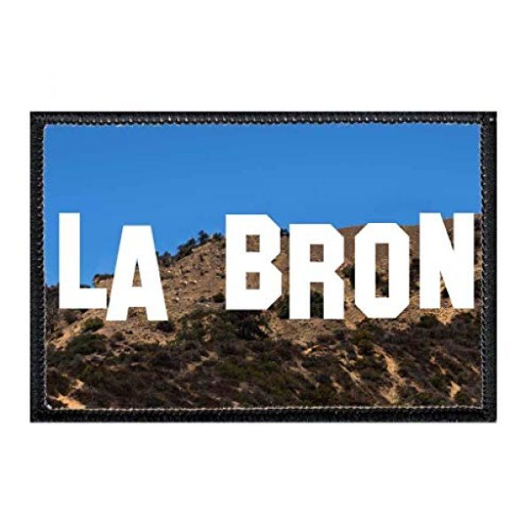 P PULLPATCH Airsoft Morale Patch 1 LA BRON Morale Patch | Hook and Loop Attach for Hats, Jeans, Vest, Coat | 2x3 in | by Pull Patch