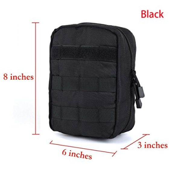 AOCKS Tactical Pouch 2 AOCKS Tactical MOLLE EMT Medical First Aid IFAK Blowout Utility Pouch Belt Waist Bag with Cell Phone Holster Holder