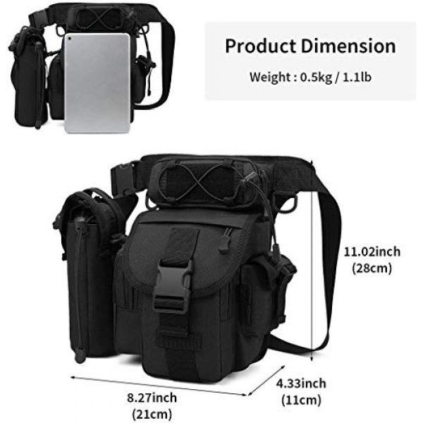 ACOMOO Tactical Pouch 3 ACOMOO Tactical Drop Leg Waist Bag Mens Outdoor Sport Thigh Hip Pack Utility Pouch Black