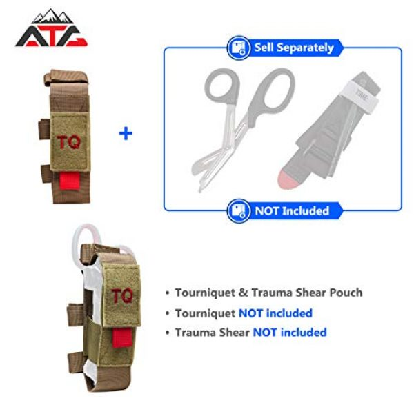 ATG Tactical Pouch 3 ATG Tactical Tourniquet & Trauma Medical Shear Pouch MOLLE PALS Duty Belt Loop EMT EMS