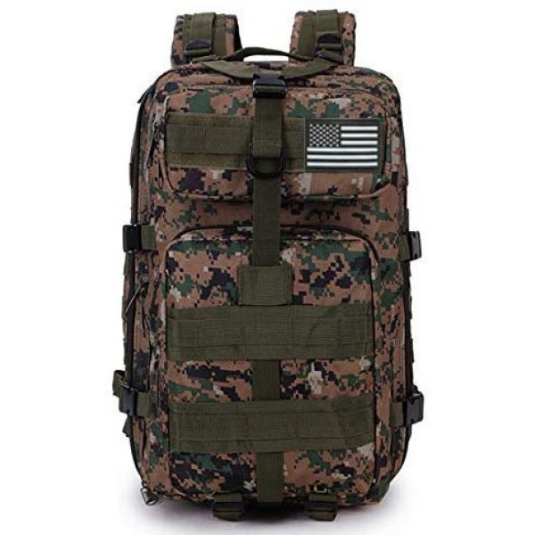 ATBP Tactical Pouch 1 ATBP Military Tactical Molle Rucksack Backpack 40L Hunting Travel Hiking Daypack Backpacking Packs Army College Bookbag (Jungle Digital +D)