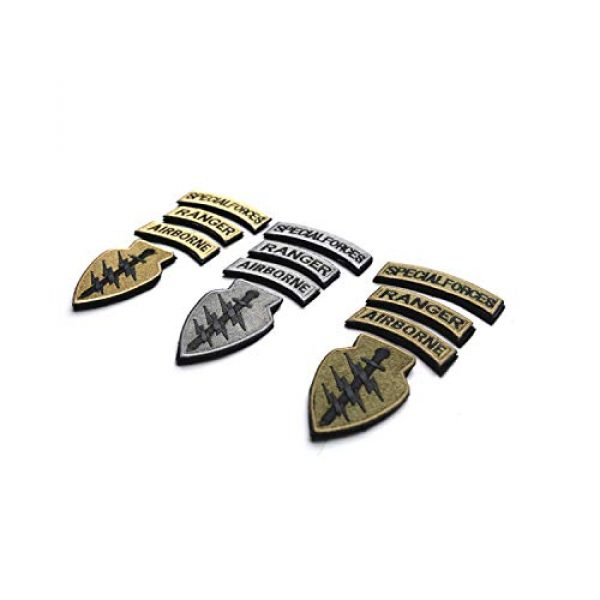 DPAINTouscap Airsoft Morale Patch 4 Special Forces Tactical Patches Embroidered Military Patch/Morale Patches