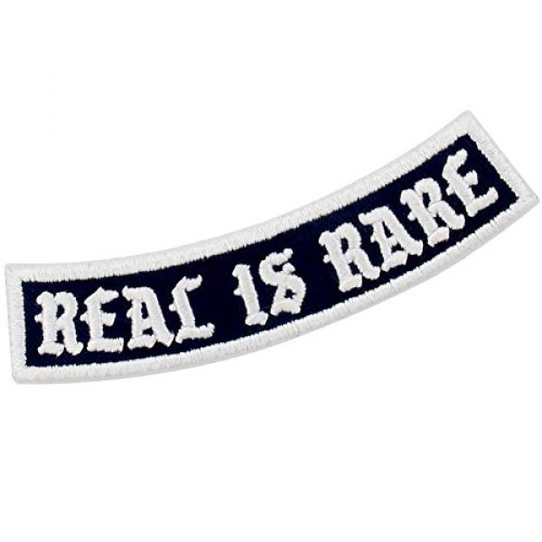 EmbTao Airsoft Morale Patch 3 Real is Rare Patch Embroidered Biker Applique Iron On Sew On Emblem