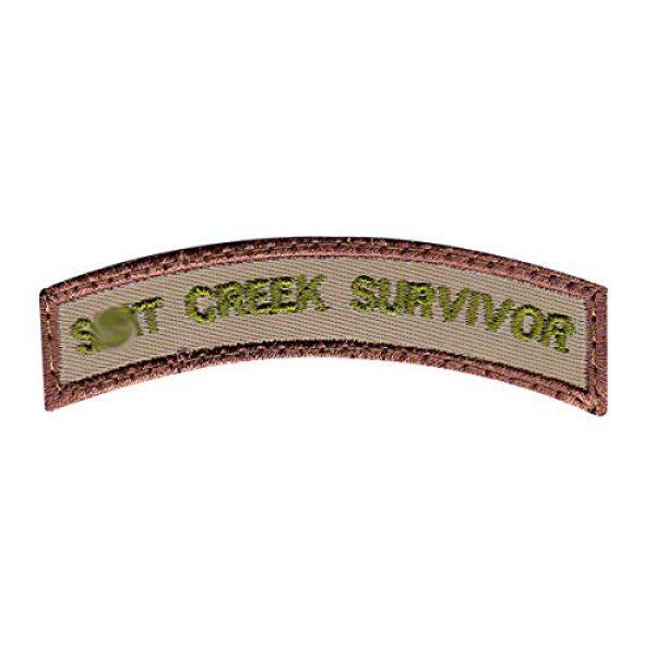 Tactical Patch Works Airsoft Morale Patch 1 Sh-t Creek Survivor Rocker Patch