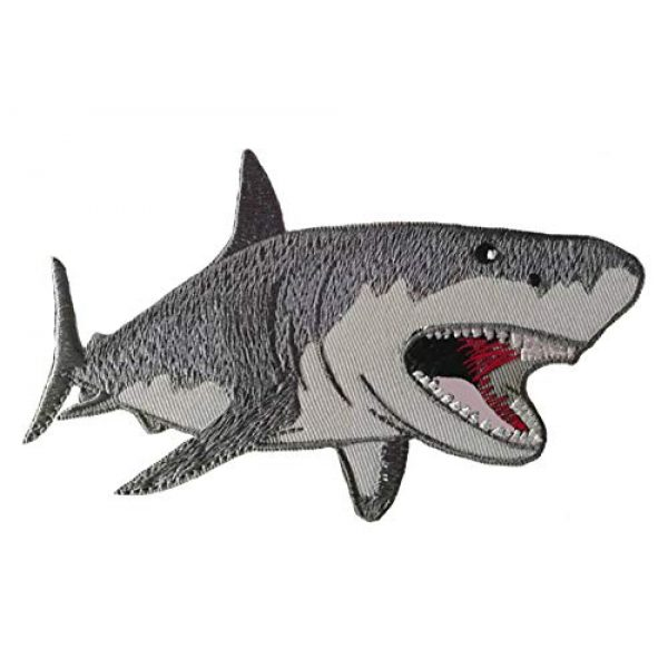 Appalachian Spirit Airsoft Morale Patch 1 Megalodon Big Tooth Shark Embroidered Patch DIY Iron-on or Sew-on Decorative Badge Emblem Vacation Souvenir Travel Gear Clothes Appliques Meg Great White Sharks Dolphins Whales Ocean Life Jaws