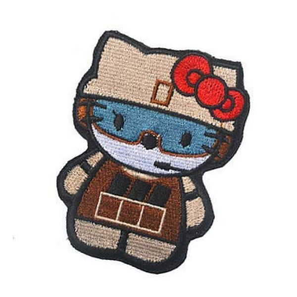 Embroidery Patch Airsoft Morale Patch 3 Hello Kitty As Army Soldier Military Hook Loop Tactics Morale Embroidered Patch
