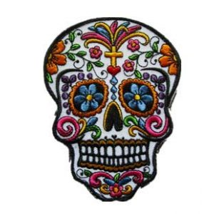 Tactical Embroidery Patch Airsoft Morale Patch 1 Sugar Skull Day of The Dead Tactical Embroidery Patch Hook & Loop Morale Patch Military Patch for Clothing Accessory Backpack Armband