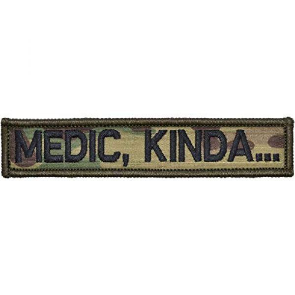 Tactical Gear Junkie Airsoft Morale Patch 1 Medic, Kinda. - 1x5 Patch - Multicam