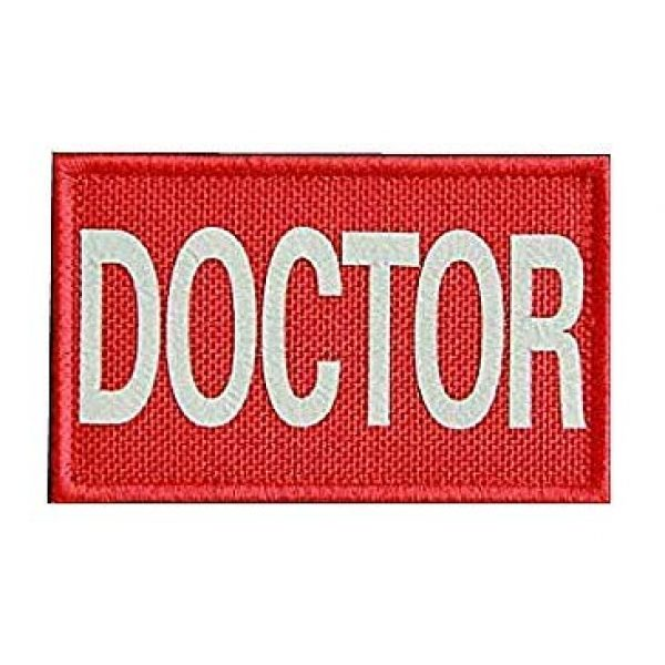 Embroidery Patch Airsoft Morale Patch 2 4 Pieces Doctor Infrared Reflective Military Hook Loop Tactics Morale Patch (color5)