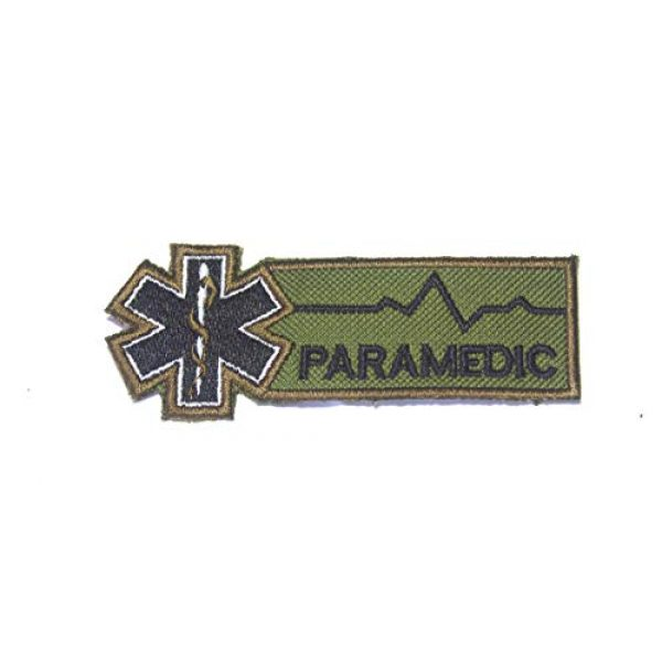 HOMMALAI Airsoft Morale Patch 1 B30 EMT EMS Paramedic Emergency Medical Ambulance Rescue Embroidered Morale Patch for Sew-On Only 4X1.5 inch (Green)