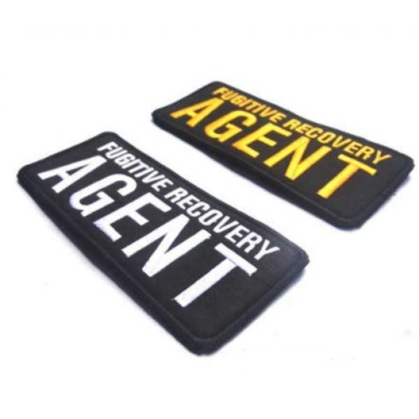 Embroidered Patch Airsoft Morale Patch 1 2pc Fugitive Recovery Agent 3D Tactical Patch Military Embroidered Morale Tags Badge Embroidered Patch DIY Applique Shoulder Patch Embroidery Gift Patch