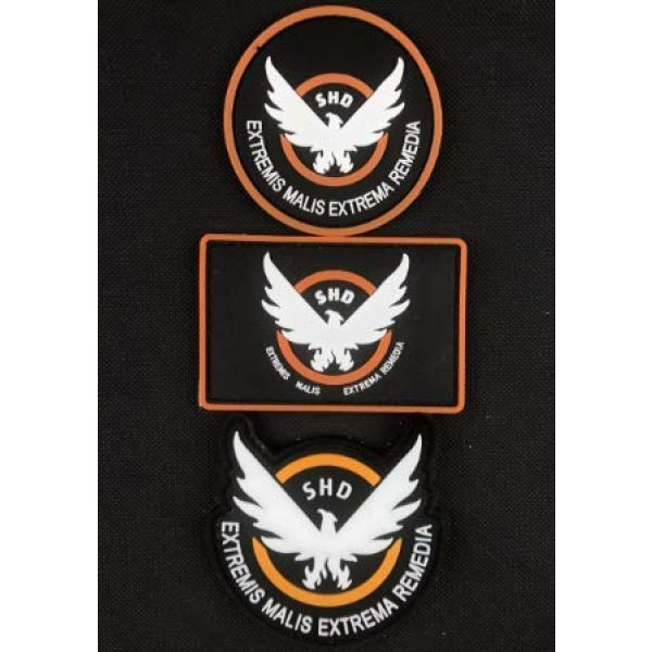 Tactical PVC Patch Airsoft Morale Patch 1 Game Airsoft Division SHD Wings Out PVC Military Tactical Morale Patch Badges Emblem Applique Hook Patches for Clothes Backpack Accessories