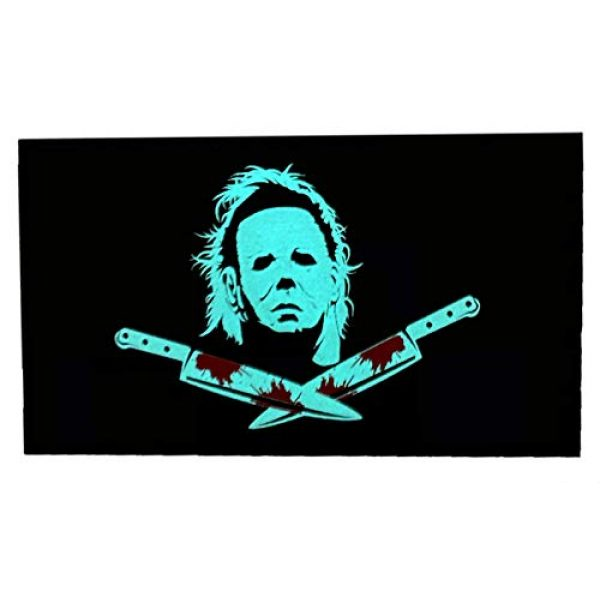F-Bomb F Morale Gear Airsoft Morale Patch 2 Glow in The Dark - Michael Myers, Halloween - PVC Morale Patch