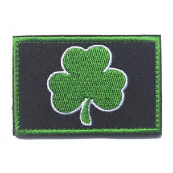 "Antrix Airsoft Morale Patch 3 Antrix 4 Pieces Irish Shamrock Military Badge Emblem Patch Hook & Loop Tactical Shamrock Lucky Clover Badge Emblem Patch - 3.15""x2"""