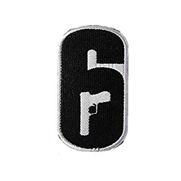 Embroidery Patch Airsoft Morale Patch 1 Rainbow Six Logo Military Hook Loop Tactics Morale Embroidered Patch
