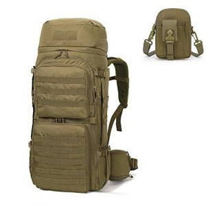Mardingtop Tactical Backpack 1 Mardingtop Bundle Items: 75L Molle Hiking Tactical Backpack Khaki