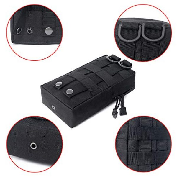 ASCOCO Tactical Pouch 4 ASCOCO Packs Tactical EDC Molle Pouch Tactical Waist Compact Organizer Gadget Gear Outdoor Pouch