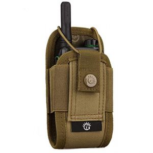 JFFCE Tactical Pouch 1 JFFCE Universal Molle Radio Case Holder Pouch Bag Interphone Pouch, Adjustable Storage Tools Pouch for Walkie Talkies