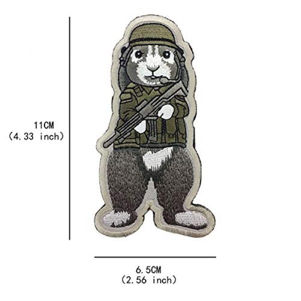 Unknown Airsoft Morale Patch 5 Patches 3D Tactical Military Rabbit Dog Embroidery Patch Morale Patches Emblem Badges Appliques Combat Embroidered Patches for Clothing - (Color: Dog)