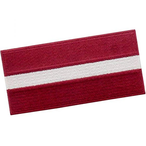 EmbTao Airsoft Morale Patch 3 EmbTao Latvia Flag Patch Embroidered National Morale Applique Iron On Sew On Latvian Emblem