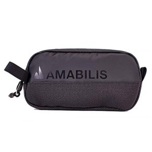 Amabilis Tactical Pouch 1 Amabilis Water Resistant, Bullet Proof Stash Capsule Dopp Kit, Toiletry Bag, Tactical Concealment and Small Items Storage Pouch, 7.5 x 4 x 1.5 Inches - 40 Cubic in