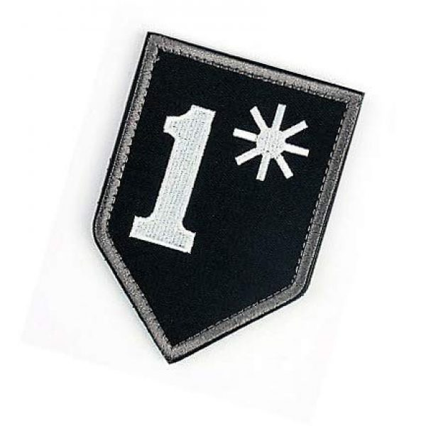 Embroidery Patch Airsoft Morale Patch 3 1 One Ass to Risk Asterisk Military Hook Loop Tactics Morale Embroidered Patch