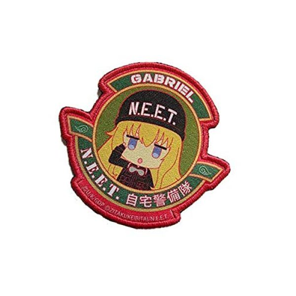 Embroidery Patch Airsoft Morale Patch 3 Japanese Anime Not Employment Embattled Team NEET Military Hook Loop Tactics Morale Patch