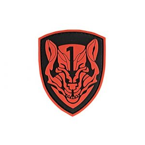 G-Force Airsoft Morale Patch 1 Red Wolf Shield PVC Morale Patch - Black/RED