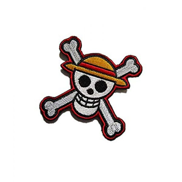 Embroidery Patch Airsoft Morale Patch 3 One Piece Japanese Anime' Luffy Skull Military Hook Loop Tactics Morale Embroidered Patch