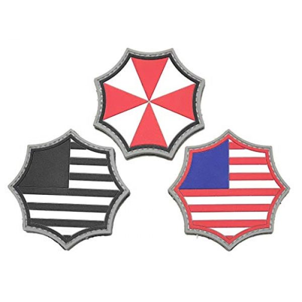 Umbrella Corporation Airsoft Morale Patch 1 Umbrella Corporation PVC Morale Patch - 3 Designs with Hook & Loop Backer