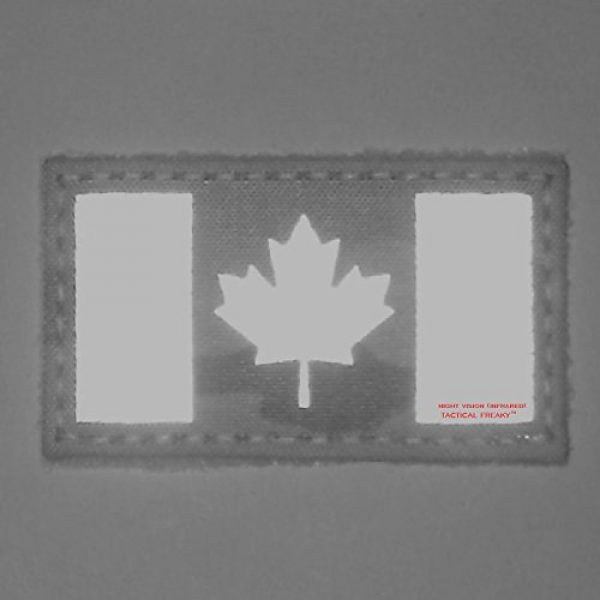 Tactical Freaky Airsoft Morale Patch 4 Multicam Infrared IR Canada Flag 3.5x2 IFF Tactical Morale Hook&Loop Patch