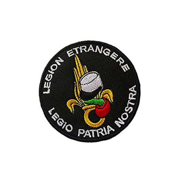 """Embroidery Patch Airsoft Morale Patch 2 French Legion Etrangere""""Legio Patria Nostra"""" Military Hook Loop Tactics Morale Embroidered Patch"""