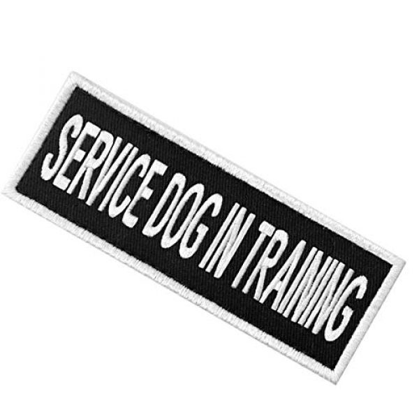 EmbTao Airsoft Morale Patch 4 Service Dog in Training Sign Vests/Harnesses Patch Embroidered Badge Fastener Hook & Loop Emblem, 6 X 2 Inches